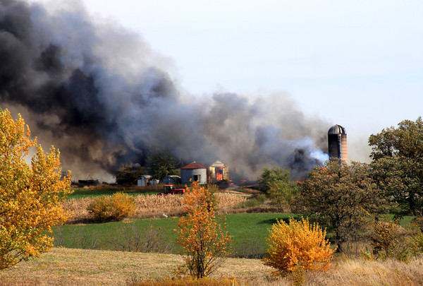 Barn Fire on Exeter Crossing