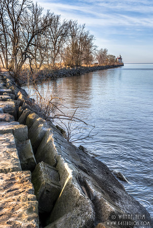 Seawall in Fairport-2.  Photography by Wayne Heim