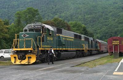 Trains at Jim Thorpe/PA - May, 2012