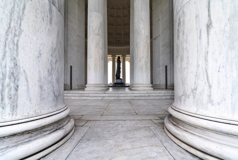 """""""Pillars of Freedom"""" - Jefferson Memorial, Washington, D.C.   Recommended Print sizes*:  4x6  