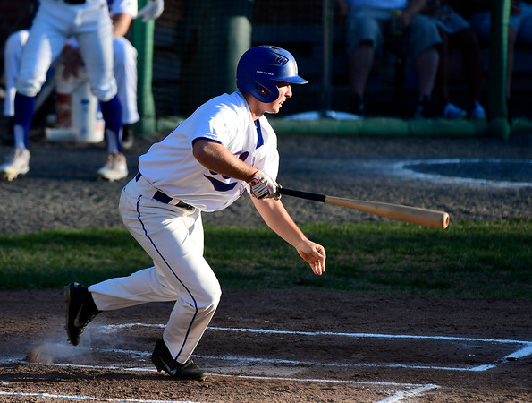 7/19/2018 Mike Orazzi | Staff Bristol Blue's Dylan Reynolds (35) during Thursday night's baseball game between the Bristol Blues and the North Shore Navigators at Muzzy Field.