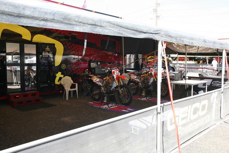 Trey Canard's two bikes.