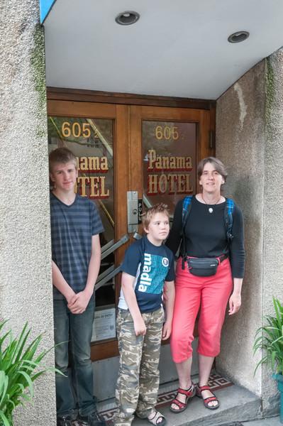 Das Panama Hotel. Hier wohnten die japanischen Einwanderer in den ersten Wochen nach Ankunft.