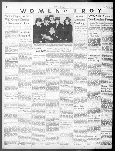 Daily Trojan, Vol. 33, No. 140, May 12, 1942