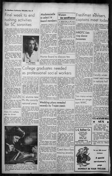Southern California Trojan, Vol. 35, No. 42, October 08, 1943