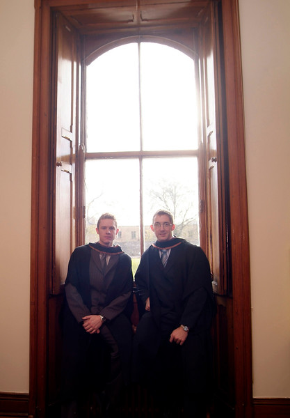 Diarmuid Kavanagh, The Rower, Kilkenny and Enda Keogh, Glenmore, Co. Kilkenny, who were both conferred with a BSc (Hons) in Artchitectural Technology. (pic-photozone)