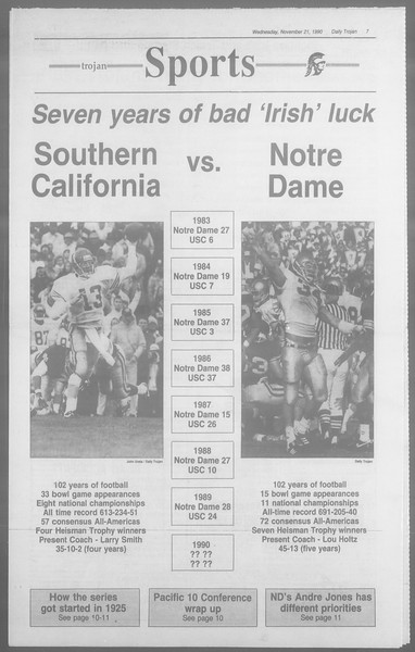 Daily Trojan, Vol. 113, No. 56, November 21, 1990