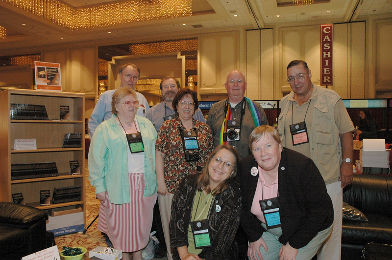 Lutherlink participants Richard Mathisen, Brian Stoffregen, Miriam Woolbert, Nancy Curtis, James Lokken, Chuck Austin, Ann Haften and Ida Hakkarinen