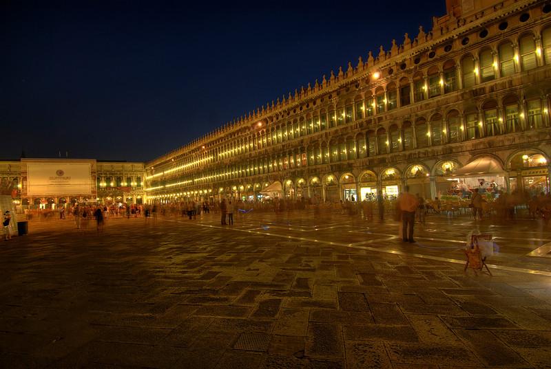 Beautiful lights at Piazza San Marco at night - Venice, Italy