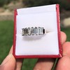 2.35ctw 7-Stone Step Cut Diamond Band 12