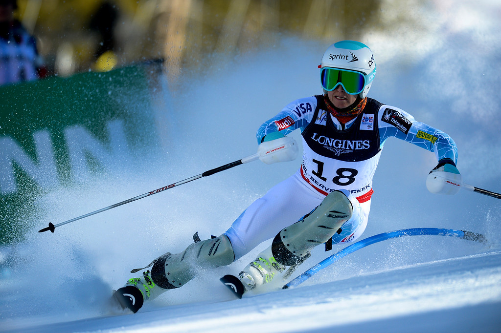 . BEAVER CREEK, CO - FEBRUARY 9: Julia Mancuso, of the United States, competes in the Women\'s slalom portion of the women\'s alpine combined race at the FIS Alpine World Ski Championships in Beaver Creek, CO. February 9, 2015. (Photo By Helen H. Richardson/The Denver Post)