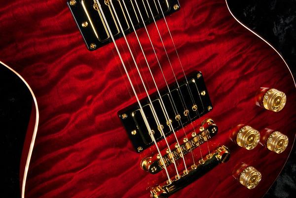 Set Neck Custom ST#0215, Double Stain Red Burst, Brazilian Rosewood Fingerboard, 59 Spec Grosh Humbuckers.