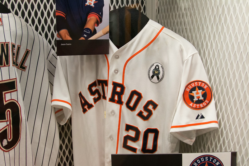 Detail of Houston Astros locker -- A trip to the Baseball Hall of Fame, Cooperstown, NY, June 2014