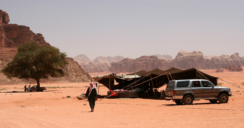 Wadi Rum - The Bedouin camp at Lawrence's Spring (Abu Aineh).
