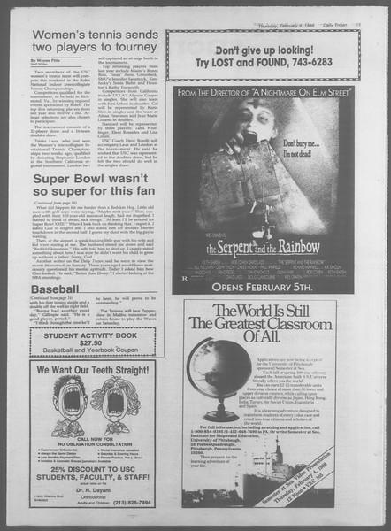 Daily Trojan, Vol. 106, No. 18, February 04, 1988