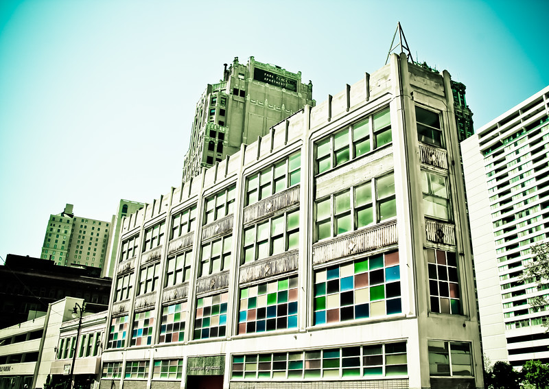 Detroit colorful windows building city lilacpop bw-1.jpg