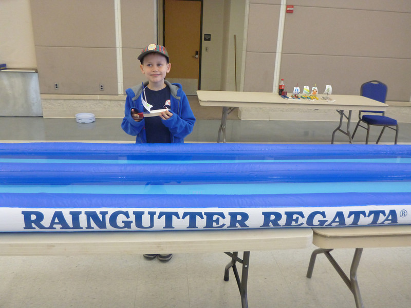 Aaron at the Boy Scout Raingutter Regatta   11/13