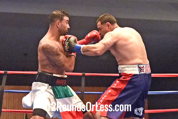 "Bout 8 Josh ""The Handsome Hitman"" Himes(Red Wrist-wraps) Monaca, PA -vs- Tony Mercado (Blue Wrist-wraps) Youngstown, Cruiser-wt"
