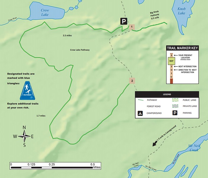 Crow Lake-Big Knob Pathway