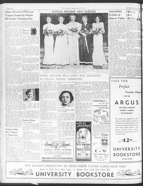 Daily Trojan, Vol. 28, No. 102A, March 20, 1937