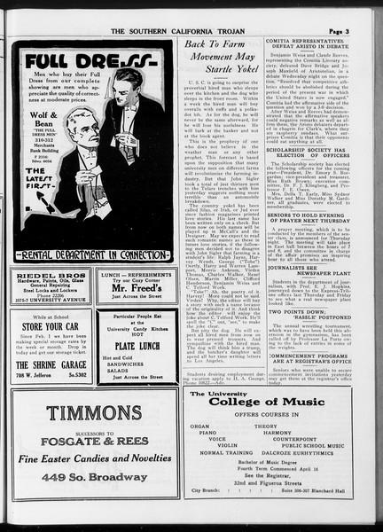 The Southern California Trojan, Vol. 8, No. 116, May 23, 1917