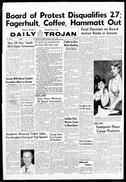 Daily Trojan, Vol. 48, No. 124, May 06, 1957