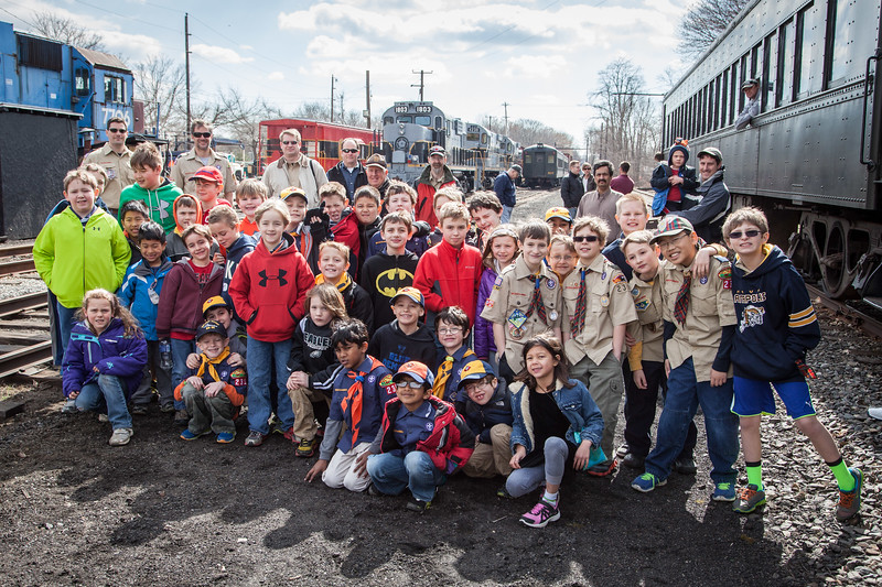 Pack 231 Rides the West Chester Rail Road