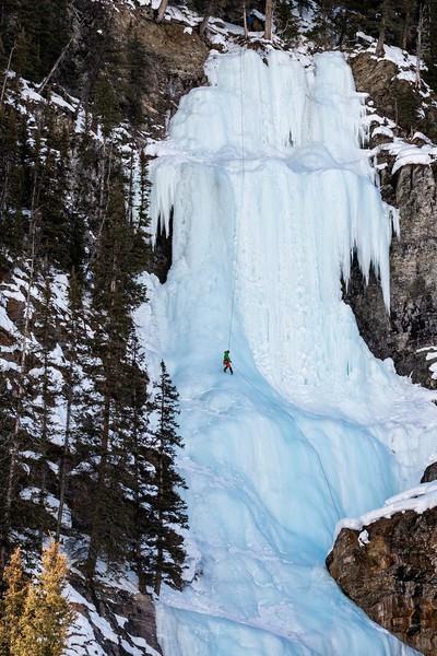 Lake Louise Falls Ice Climbing