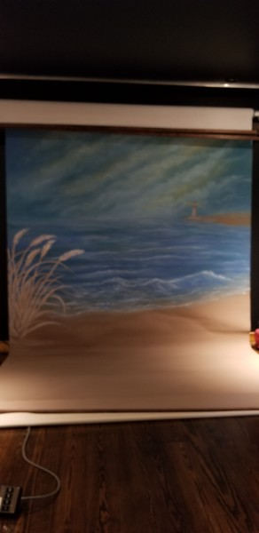 10x20 Painted Backdrop for Roller System $400