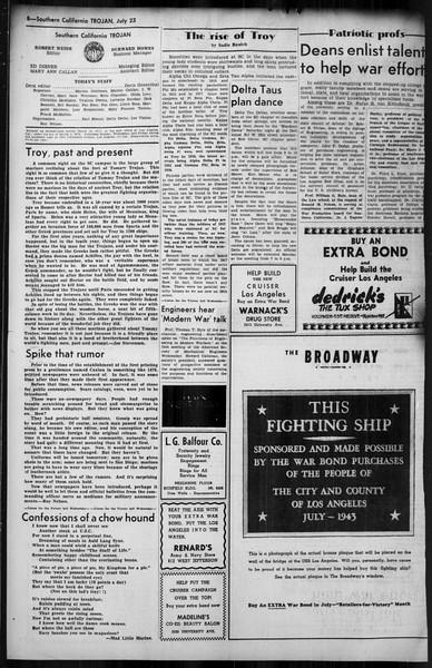 Southern California Trojan, Vol. 35, No. 9, July 23, 1943