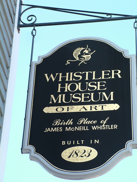 Whistler House Museum of Art Sign Worthen St Lowell April 30, 2006 076.jpg