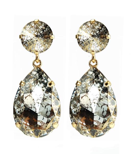 Perfect Drop Earrings / Gold Patina