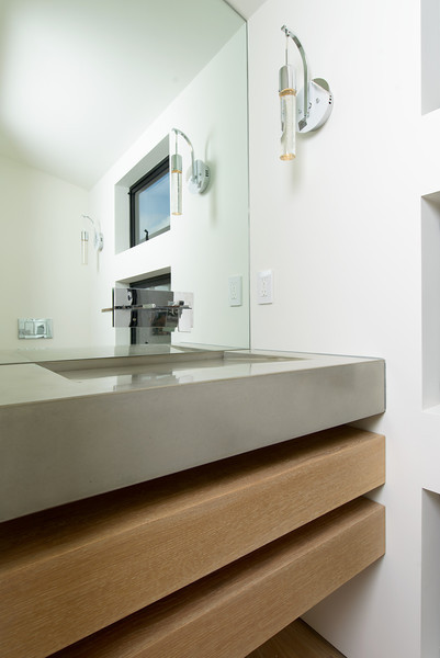 Concrete Craftsman Paul Neall - Custom Bathroom Sink (Product Photography, Portola Valley, California)