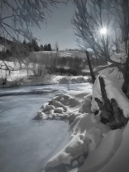 Logan River in January