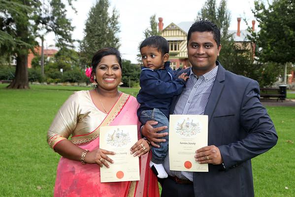 Edward and Shivani's Citizenship Ceremony.