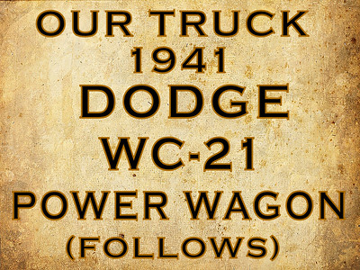OUR TRUCK WC-21, DIVIDER (NO PHOTOS)