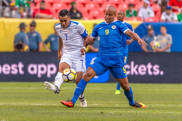 The 2017 CONCACAF Gold Cup, Group Stage, Match Day 6, Soccer game between El Salvador vs Curacao at Sports Authority Field in Denver, Colorado.
