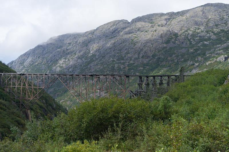 Built in 1901, this steel girder bridge was the tallest cantilever bridge in the world.