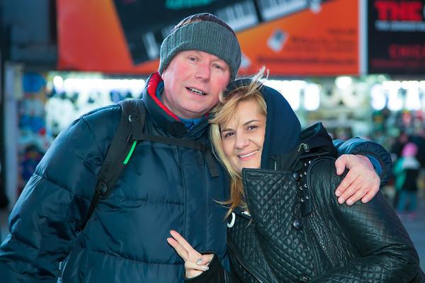 Photo shoot in Manhattan with Nicola - January 5, 2015