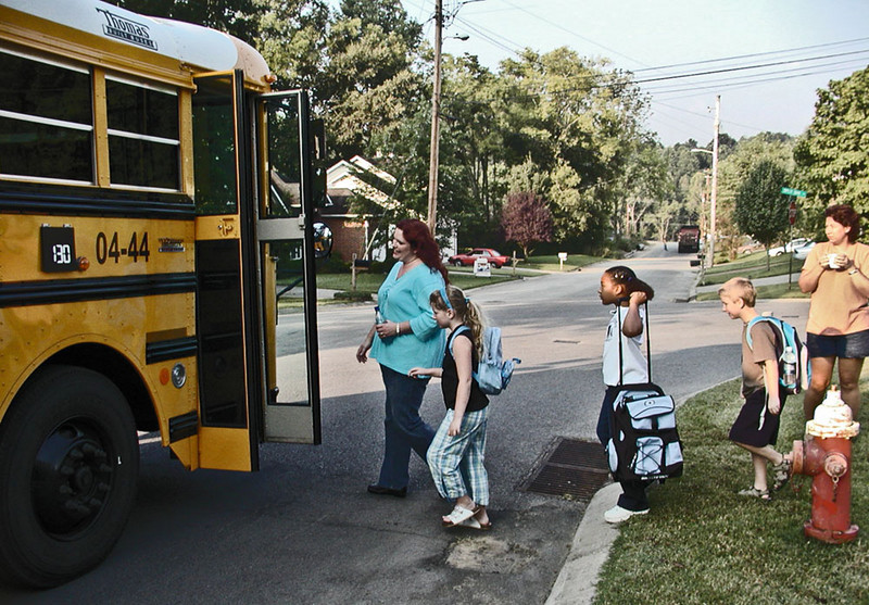 """Last year's """"first day of school"""", August 17th, 2004."""