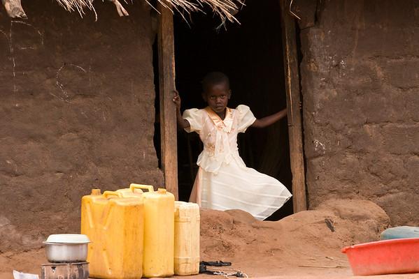 family life in Swaria IDP camp in Uganda