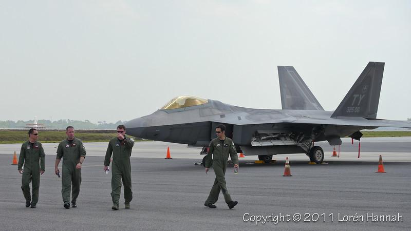 Lockheed Martin F-22 Raptor & ACC Demo Team Pilots (F-15, A-10)