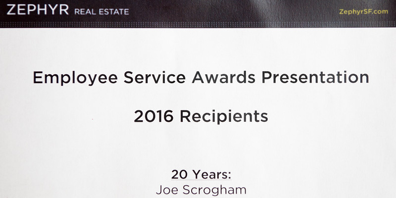 Zephyr - 2016 Employee Service Awards Presentation