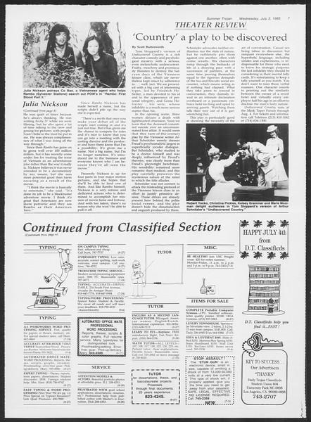Summer Trojan, Vol. 99, No. 7, July 03, 1985