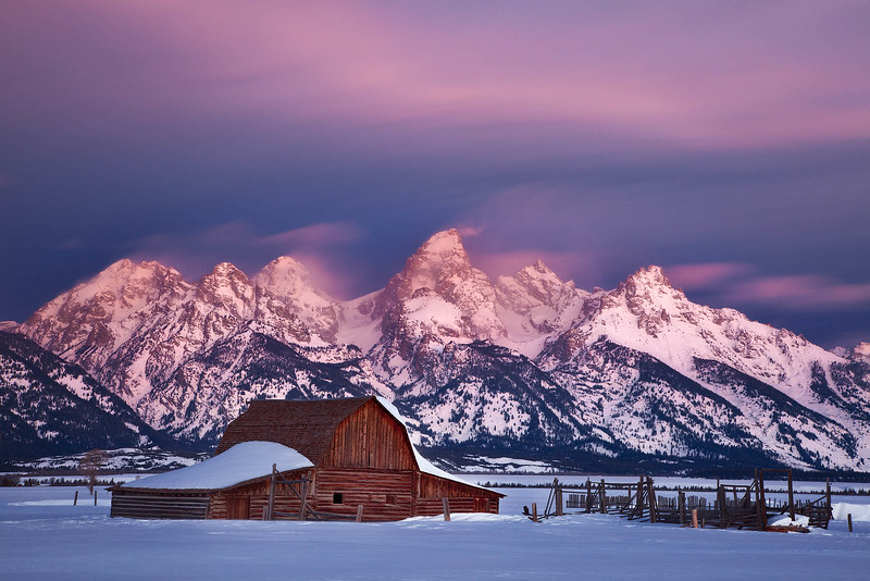 Teton Barn Winter