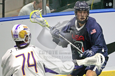 9/25/2015 - Semifinal Playoff - USA vs. Iroquois - Tsha'Hon'nonyen'dakhwa' , Onondaga Nation Territory (Onondaga Nation Arena, Nedrow, NY) - Photographer Larry Palumbo, Brian Russo & Tony Ventiquattro