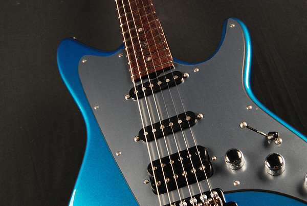 ElectraJet Custom, Deep Aqua Metallic Over Black, SSH Pickups