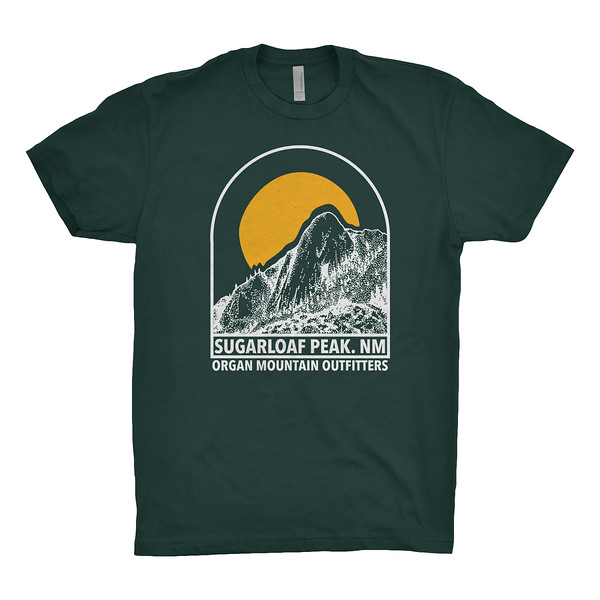 Organ Mountain Outfitters - Outdoor Apparel - Mens T-Shirt - Sugarloaf Peak Tee - Forest Green.jpg