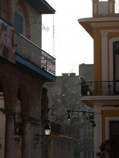 This was a scene in Plaza Vieja. The plaza buildings have been restored.