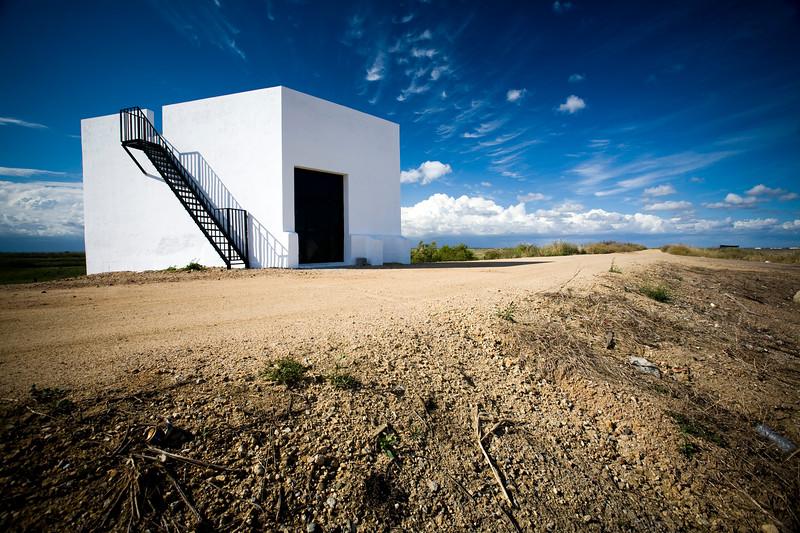 Cube-shaped country house, Doñana marshland area, town of Isla Mayor, province of Seville, autonomous community of Andalusia, southwestern Spain
